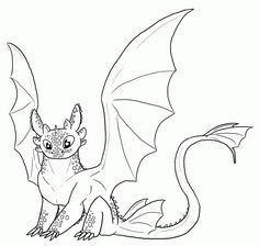 FREE Toothless Lineart by Leafyful on deviantART