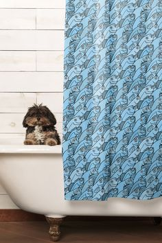 "Shower Curtain: ""There's Plenty of Fish..."" by Otto Raila 