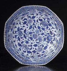 青と白の磁器、中国、江西省