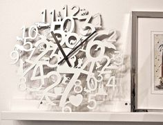 Wall clock with customizable colors to perfectly fit your style and mood. Laser-cutted steel