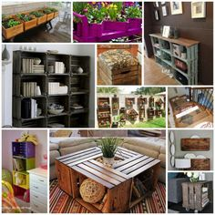 Wood Milk Crate Ottoman Tutorial: Vintage Milk Crate Turned into Unique Ottoman Wood Soda Crate Display Table Tutorial: How to Make a Table Using Old Wood Soda Crates … Wooden Wine Crates, Diy Wooden Crate, Milk Crates, Wooden Boxes, Recycled Furniture, Diy Furniture, Crate Ottoman, Diy Interior, Crate Bookcase