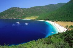 Antisamos lies near the port of Sami, and is considered one of the island's prettiest beaches. The route from Sami to the beach is particularly enchanting as it crosses one of the greenest parts of the island with towering pine trees.