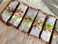 LCHF Raspberry - Coconut bars - hindbær-kokossnitter (LCHF) - Danish recipe - holler if you need translation :0)