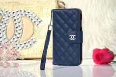 Chanel iPhone 6 Lamskin Leather Case Bag Dark Blue Free Shipping - Deluxeiphone6case.com