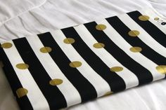 SALE : Black, White, & Gold Dot Table Runner - Home Decor - Wedding Decor - Party Decor - Shower Decor by GoldandGlamour on Etsy https://www.etsy.com/listing/205595355/sale-black-white-gold-dot-table-runner
