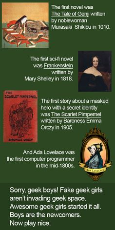 """""""Although I have to point out that there was a piece of speculative science fiction called The Blazing World published by one Margaret Cavendish, Duchess of Newcastle-upon-Tyne in 1666, slightly predating Mary Shelley."""""""
