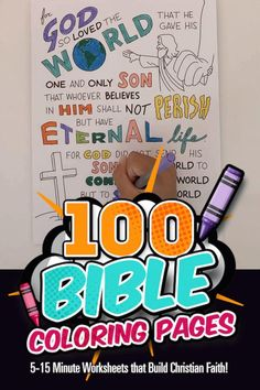 100 Printable Bible Coloring Pages for Kids. Bible Coloring Pages, Coloring Sheets, Christian Girls, Christian Faith, Color Puzzle, Bible Crafts For Kids, Jewish History, Kids Church, Worksheets For Kids