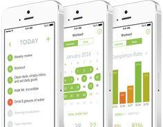 Habit List is not a to-do app, it is a mobile app that will help you start on your way towards good habits. Habit App, Habit Tracker App, Nutrition Tracker App, To Do App, Gui Interface, Clean Desk, Today Calendar, Calendar App, Cool Mom Picks