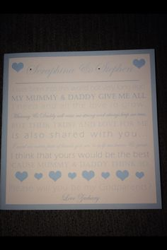 godparent invitation