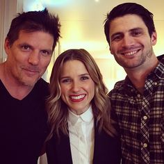 Paul Johansson, Sophia Bush, and James Lafferty