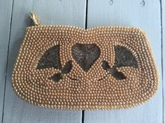 Vintage Faux Pearl Purse with Silver Beads by BeCreative2 on Etsy