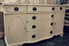 Gorgeous buffet painted with Mother Earth Paints - White Lace