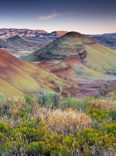 Painted Hills John Day Fossil Beds Oregon   Painted Hills, John Day Fossil Beds National Monument, Oregon, USA by ...