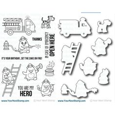 Your Next Stamp SET YNS0416WTTR WADDLES TO THE RESCUE Clear Stamps and Dies