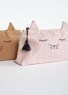 Canvas Cat Pencil Case   Emile et Ida