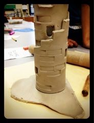 clay castles a lesson using clay Dynamic Art Projects for Children i s, by far, the best printed resource for creative art lesson...