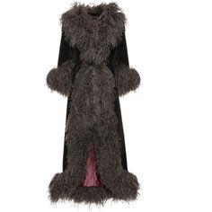 Nina Ricci marabou trim dress, 1990s (€1.100) ❤ liked on Polyvore featuring dresses, nina ricci dresses and nina ricci