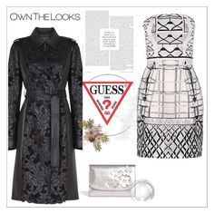 """""""GUESS"""" by bellamonica ❤ liked on Polyvore featuring BCBGMAXAZRIA and Mary Katrantzou"""