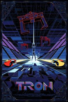 This poster is so rad Tron Legacy, Cyberpunk, Tron Art, Vaporwave, Bg Design, Retro Waves, Alternative Movie Posters, Sci Fi Movies, Cult Movies