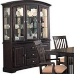 Coaster Cappuccino Finish Birch Veneer Buffet Hutch For Sale Buffet Hutch, Kitchen Hutch Cabinet, China Cabinets And Hutches, Dining Room Hutch, Wood Buffet, Dining Room Buffet, Cabinet Decor, Dining Room Furniture, Home Furniture