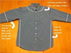 refashion mens shirts | Make: Men's Shirt Refashion