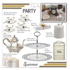 """""""Tea Party"""" by rasa-j ❤ liked on Polyvore featuring interior, interiors, interior design, home, home decor, interior decorating, Sur La Table, Eichholtz, Rosenthal and Harrods"""