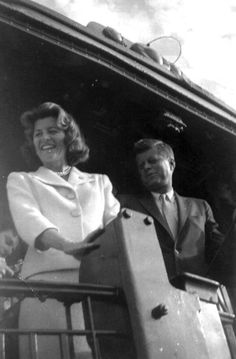 JFK with his sister Pat Lawford