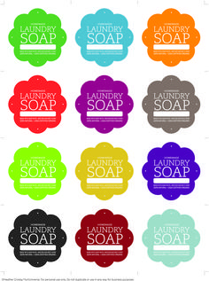PRINT These Laundry Soap Labels for your homemade Laundry Soap.