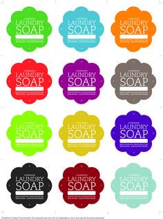 Laundry Soap Labels - -joy!