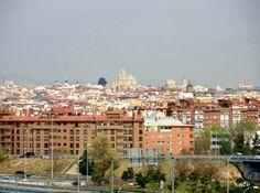 Vista de Madrid desde el Parque Lineal