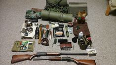 Here is a great set of 21st century longhunter kit, The owner says that he doesnt take everything out with him all the time but that choosing what he needs based on the situation is half the fun.