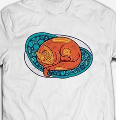 FUNNY RETRO VINTAGE BANJO CAT CUTE ANIMAL PET FELINE 100/% cotton T-shirt Tee