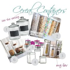 Cereal Containers, created by designindulgences using polyvore