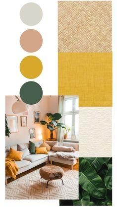 Living Room Designs, Living Room Decor, Bedroom Decor, Room Color Schemes, Interior Color Schemes, Home And Deco, Bedroom Colors, House Colors, Colorful Interiors