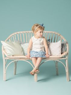 Hucklebones have a 60's retro daisy motif for their summer 2015 girls fashion collection
