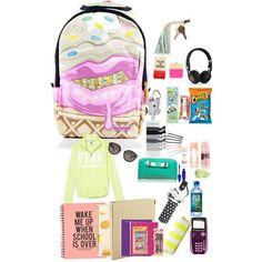 What's in my backpack? Middle School Hacks, Back To School, College School, School Stuff, Road Trip Essentials, School Essentials, Girl Life Hacks, Girls Life, School Backpack Organization