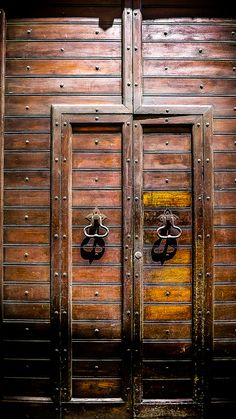 Rome, Italy - Wooden Door