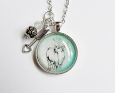 Whitetail Buck Deer Hunting Necklace by HoovesHornsWingsPaws