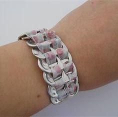 Bracelet canette récup, Création bijou fantaisie