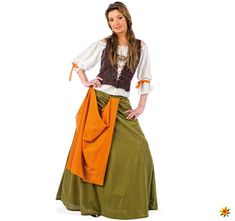 A Adult Tavern Maiden Costume for Halloween and Carnival Parties! Wench Costume, Ladies Fancy Dress, Medieval Costume, Dress Up Costumes, Medieval Clothing, Fantasy Dress, Costumes For Women, Clothes For Women, Halloween