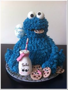 Cute Cookie Monster Birthday Cake made by My Sweet Art Cute Cookies, Cupcake Cookies, Cupcakes, 2 Birthday Cake, Birthday Ideas, Fresh Cake, Cake Delivery, Cake Art, Art Cakes