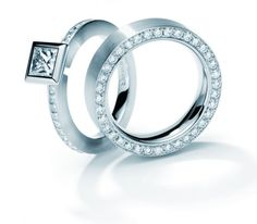 Platinum and diamond rings by Henrich and Denzel