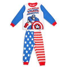 Pijama EPK para niño con estampado y colores de Capitan America Boys Pjs, My Boys, Little Boy Outfits, Little Boys, Disney Fashion, Boy Clothing, Disney Style, Geeks, Wetsuit