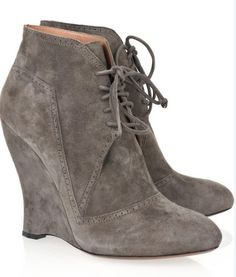 Azzedine Alaia_suede wedge ankle boot