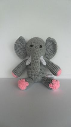 Crochet Elephant by YouHadMeAtCrochet