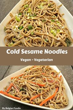 Cold Sesame Noodles are a perfect tasty healthy quick VEGAN  meal!