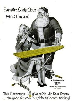 She looks a little young. What happened to the first Mrs. Claus? (Funny bad retro ads)