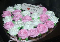 Mini rose cupcakes baquet