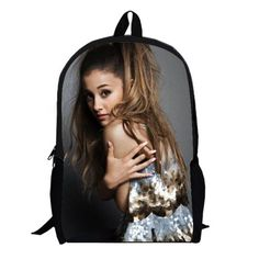Pop Star Ariana Grande R&B hiphop disney singer teenage school backpack bag student laptop book college teens