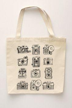 Vintage Camera Set Tote Bag